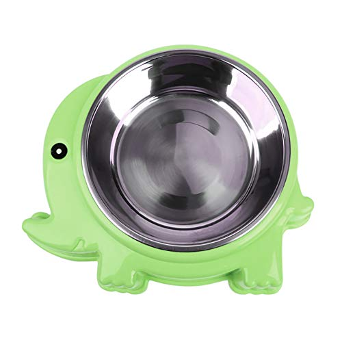 Lai-LYQ Krab Olifant Vorm Huisdier Bowl Voedsel Water Container RVS Hond Kattenvoer - Groen S Olifant