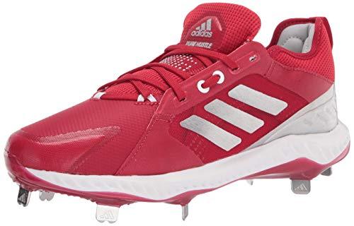 adidas Zapato de béisbol para hombre Fv9039, rojo (Rojo/Plateado/Blanco), 44.5 EU