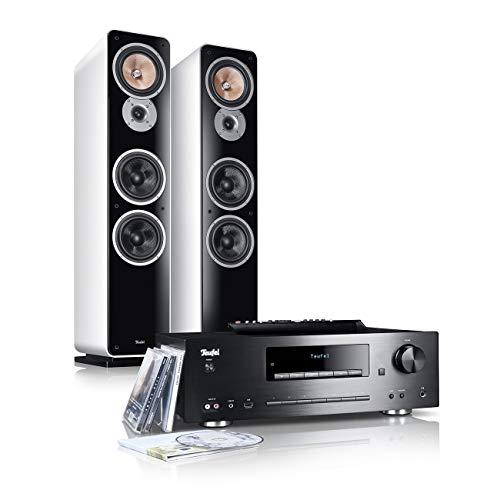 Teufel Kombo 62 Weiß Stand-Lautsprecher Sound bassreflex 3-Wege HiFi Hochtöner Lautsprecher high end HiFi Speaker Lautsprecher Musik