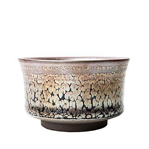 LJJOO Copas de té japonesas hechas a mano de cerámica Taza de café con inspirado en Zen Tazas de té decorativas y multipropósito para bebidas calientes y frías Juegos de té