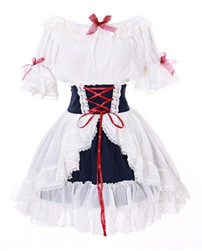 Kawaii-Story JL-642 wit chiffon rok & blouse tule jurk Victorian Rococo Stretch Gothic Lolita kostuum Cosplay