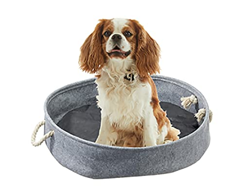 Kamaca Cama para perros y cojín para animales domésticos, cama de viaje y cesta de transporte para perros, 60 cm, con cojines de recambio y asas, práctica, suave, fácil de limpiar