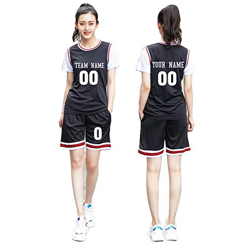basketball shirts Custom Basketball Jersey Set Girls Breathable Short Sleeve Basketball Uniform with Number for Women