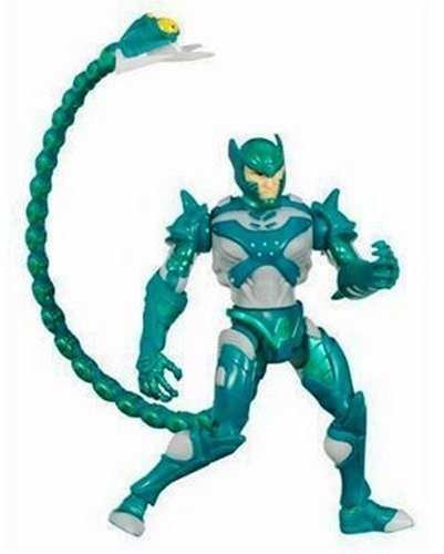 SPIDER-MAN / SPIDERMAN - Poison Blast SCORPION - Water shooting Tail! - Tail Shoots Water! - 5 Inch / ca. 13cm Action Figur - incl. Spider-Man Peel-Off Sticker - OVP