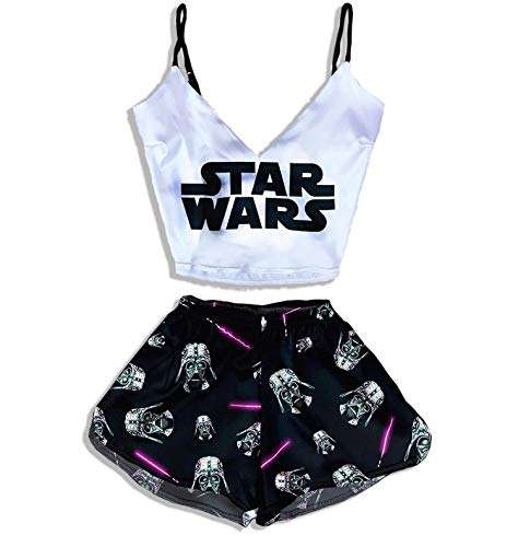 Star Wars Print Pajamas for Girls Women Teen Sleepwear Best Silk Cotton Gifts for Her Girlfriend Funny Gifts Luxury Sexy PJ