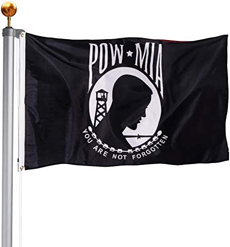 TOPFLAGS POW Flag 3x5 Outdoor You are Not Forgotten POW MIA Flags Prisoner War Durable Outdoor product image