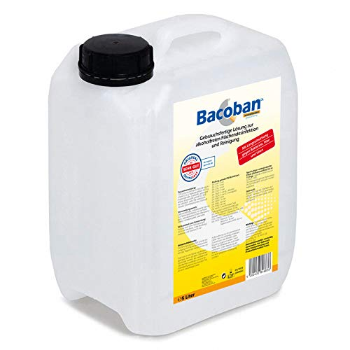 BACOBAN® Langzeit Flächendesinfektion, wasserbasiert - Fertiglösung, 5 Liter Desinfektion gegen Viren und Baterien