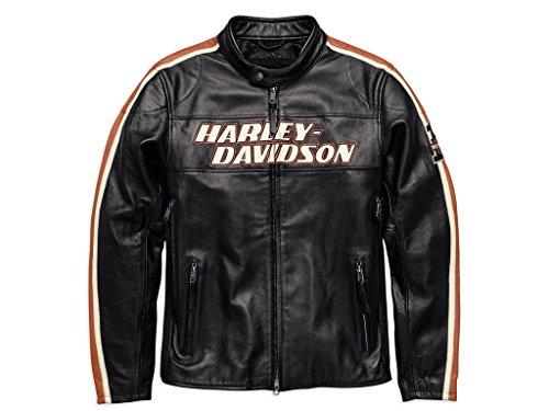 HARLEY-DAVIDSON Torque Herren Leder Jacke, 98026-18EM, 4XL