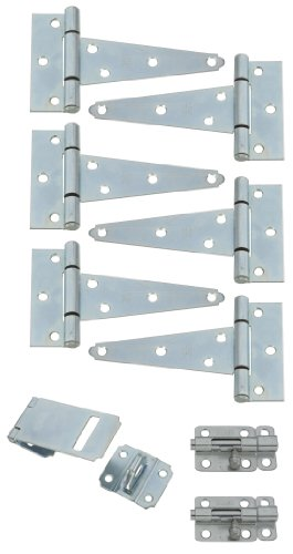 Stanley Hardware S157-500 9PC Shed Kit in Zinc