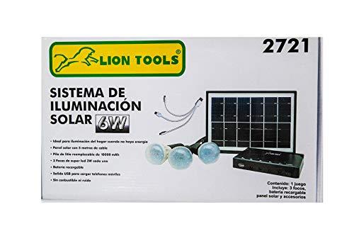 Kit Panel Solar marca LION TOOLS