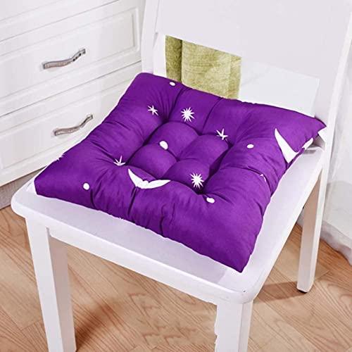 LTHDD Juego de 4 cojines de 100% algodón, antideslizantes, lavables, para coche, oficina, suelo, silla de comedor, 60 x 60 cm