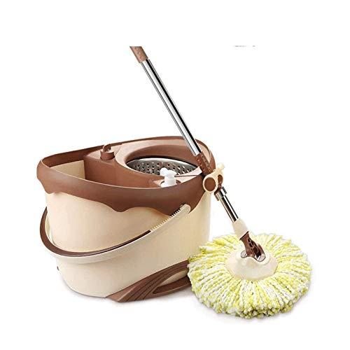 Sdesign Pin Stop y Conjunto de Cubos Microfibra Mop 360 Spinning Mop and Bucket para Madera Dura, Laminado, Tile Limpieza de Suelo