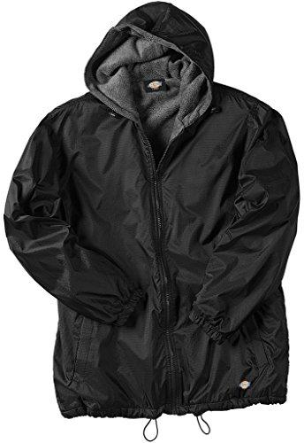 Dickies Big Men's Hooded Nylon Zip Jacket 3XL Black #952