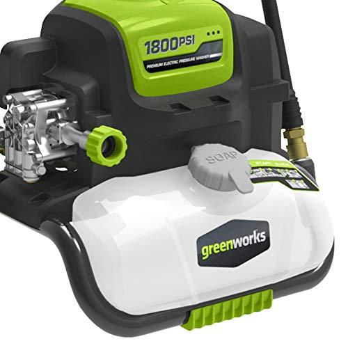 Greenworks GPW1800 Electric Pressure Washer 1800 PSI 13 Amp 1.1 GPM