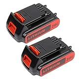 2Pack 20v 2.5Ah Replacement Battery for Black & Decker 20Volt LBXR20 LST220 LB20 LBX20 LBXR2020-OPE Battery Li-Ion