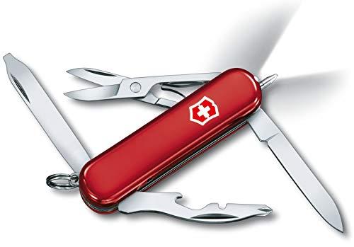 Victorinox Taschenmesser Midnite Manager (10 Funktionen, LED-Licht, Schere) rot