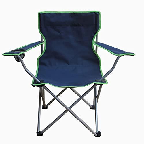 Sedia da Campeggio per Esterni Grande Pieghevole Poltrona da Campeggio Sedia da Spiaggia Sedia Portatile da Pesca Facile da Trasportare Pieghevole (Color : Blue, Size : 49 * 49 * 80cm)