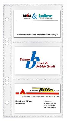 VELOFLEX Veloflex 5352000 Visitenkartenhüllen, 110x210mm, für Bild