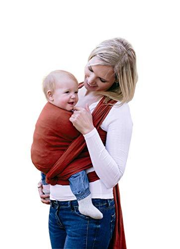 AMAZONAS Babytragetuch Carry Sling Terra - TESTSIEGER bei Stiftung Warentest mit Bestnote 1,7-450 cm 0-3 Jahre bis 15 kg in Dunkelrot