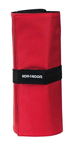 Koh-I-Noor DJTR-24 Astuccio Arrotolabile, Rosso/Nero