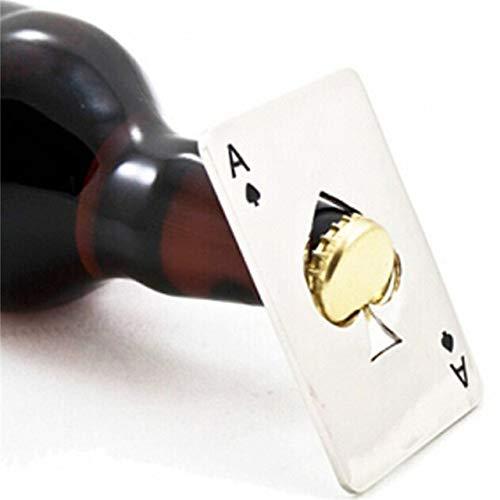 WUQIUYU Regalo dell'apri di Bottiglia di Birra della Soda dello Strumento dell'asta della Barra di Poker Spades