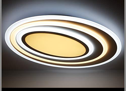 Lámpara LED de techo xw092 con mando a distancia Luz/brillo ajustable acrílico de pantalla Color blanco lacado marco de metal diseño original A+
