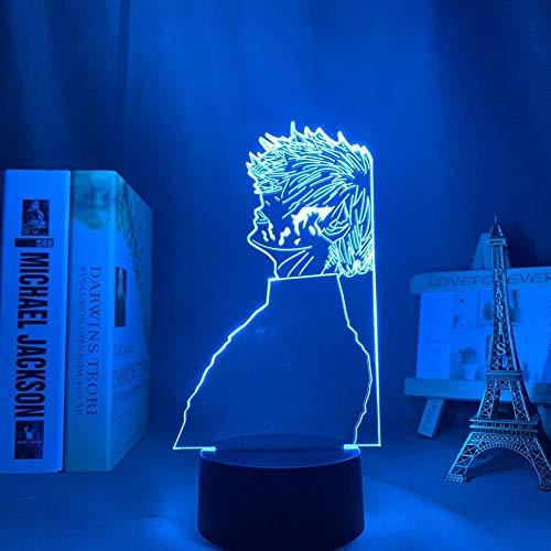 Lámpara de noche 3D de anime Ken Kaneki Light Tokyo Ghoul, lámpara 3D para niños, decoración de dormitorio, manga, regalo de cumpleaños, Tokyo Ghoul LED, lámpara de mesa de 7 colores táctil LUOXIA