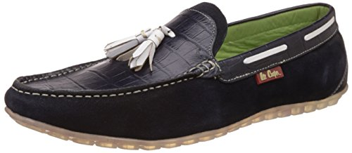 Lee Cooper Men's Blue Leather Loafers and Moccasins - 8 UK/India (42 EU)