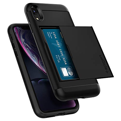 Spigen Funda Slim Armor CS Compatible con iPhone XR - Negro