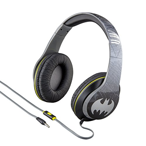 eKids by iHome Batman On Ear Headphones with Built in Mic (Ri-M40BM.FXv7)