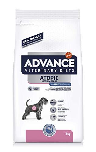 ADVANCE Veterinary Diets Atopic Care Medium/Maxi - Pienso Para Perros Adultos Con Problemas Atópicos De Razas Medianas y Grandes Con Trucha - 3 kg