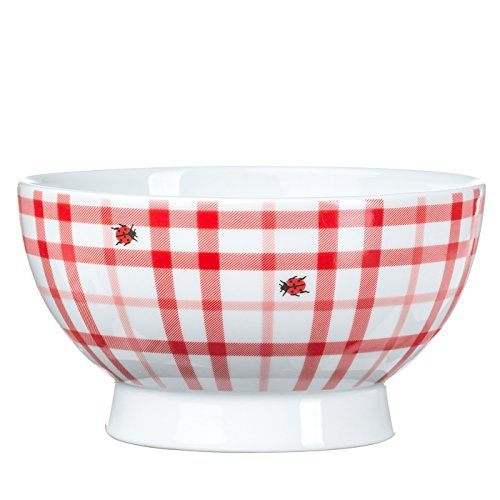 Feinkost Käfer Geschirr, Porzellan, Weiß/rot, 12.5 x 12.5 x 7.5 cm