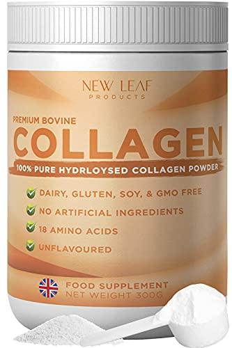 Collagen Powder 100% Pure Hydrolysed Bovine Collagen Peptides Powder...