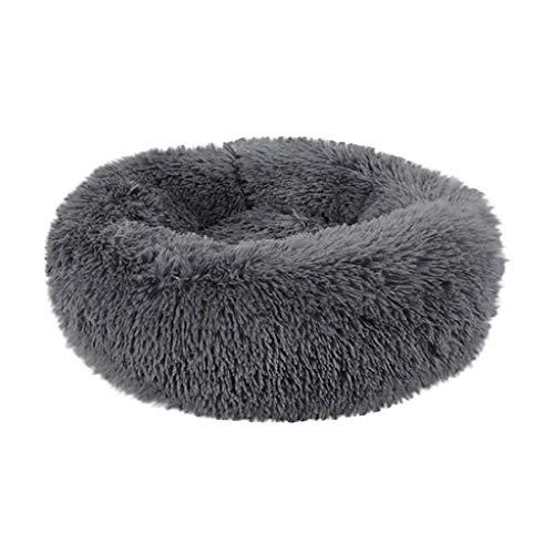 ZoePets Round Pet Bed Full Fleece Pets Sleep Zone Comfortable Elastic Cat Dog Pet Nest Cat Nest Dog Nest Dark Gray Clothing