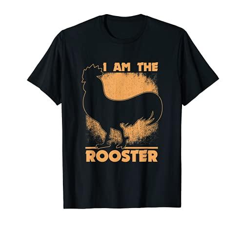 Divertida camiseta de gallos con texto en inglés «I Am The Rooster»...