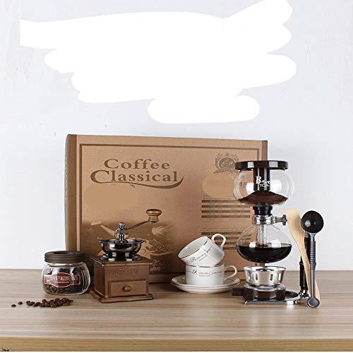 Siphon Topf Geschenk-Box Siphon Kaffeekanne Set Haus Glas manuelle Kaffeemaschine Schleifmaschine SiphonPotBigGiftBox