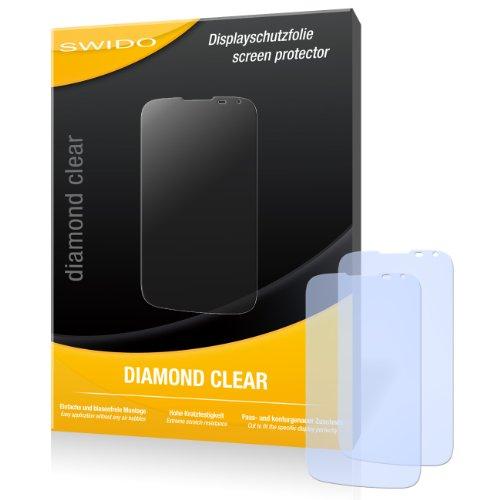 SWIDO 2 x Bildschirmschutzfolie Huawei Ascend G610 Schutzfolie Folie DiamondClear unsichtbar