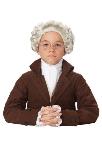 Child Colonial Peruke Wig Standard Ivory