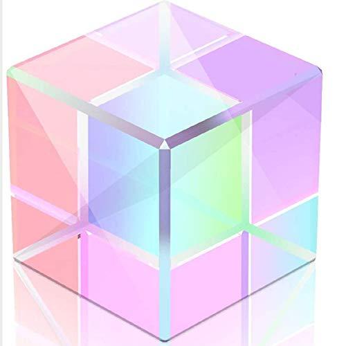 GSJDD Würfelglasprismen, sechsseitige Dispersionswürfel für Starkes Licht für Physik und Dekoration, Prismen für den Unterricht in physikalischer Optik