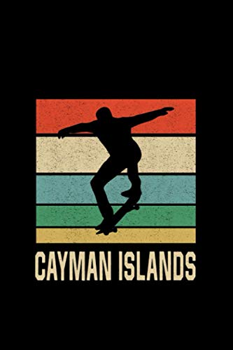 Cayman Islands Skateboarding Skateboard Skater: Notebook / Paperback with Cayman Islands Skateboarding Skateboard Skater motive -in A5 (6x9in) dotted dot grid