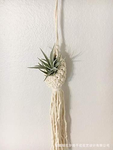 Tapiz nórdico tejido a mano tapiz bohemio tapiz bolsa de red aire piña canasta de flores ins decoraciones de tapiz de viento