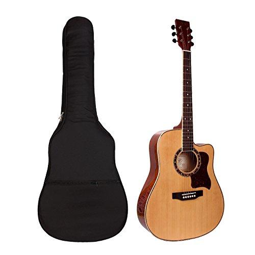 Gitarrentasche Gig Bag Guitar Case Gitarrenhüll Wasserdicht Gepolsterte Guitar Bag Mit Rucksackgarnitur für 40 41 Zoll Akustik Giatarre und Westerngitarre Gitarre Tasche Rucksack Schwarz