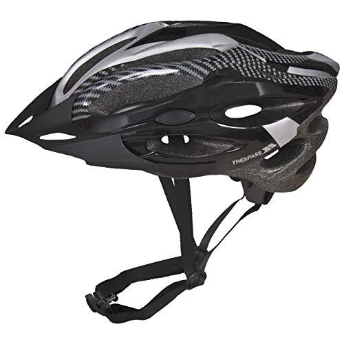 Trespass Crankster, svart, L/XL, ergonomisk justerbar cykelhjälm med allsidig ventilation, Large/X-Large, Svart