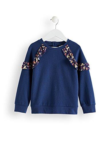 RED WAGON Amazon-Marke: RED WAGON Mädchen Sweatshirt mit Rüschendetails, Blau (Navy), 104, Label:4 Years