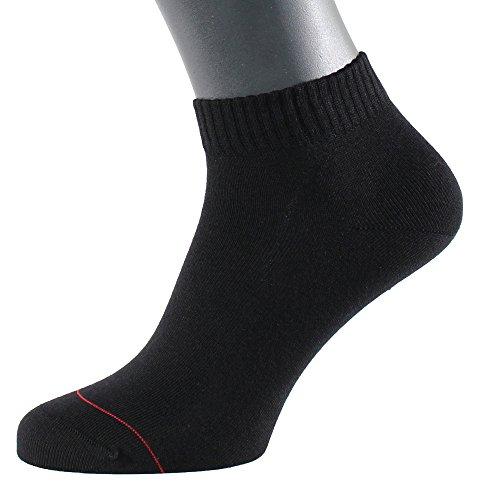 Albert Kreuz Herren Sneaker Socken Kurzsocken mit Silber antibakteriell Baumwolle Sportsocken schwarz 45-47