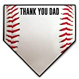 ChalkTalkSPORTS Baseball Stitches Home Plate Plaque | Thank You Dad | Ready to Autograph