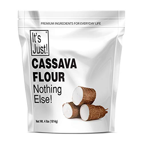 It's Just - Cassava Flour, Made from Yucca Root, Non-GMO, Gluten Free Baking, 4lbs