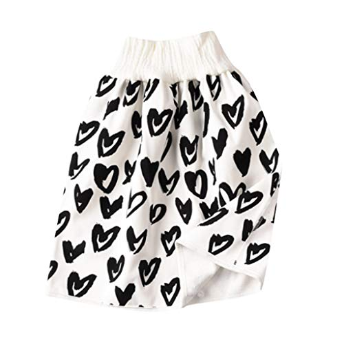 Pwtchenty 1 Stück Comfy Childrens Diaper Skirt Shorts 2 in 1 Waterproof and Absorbent Shorts for Baby Toddler