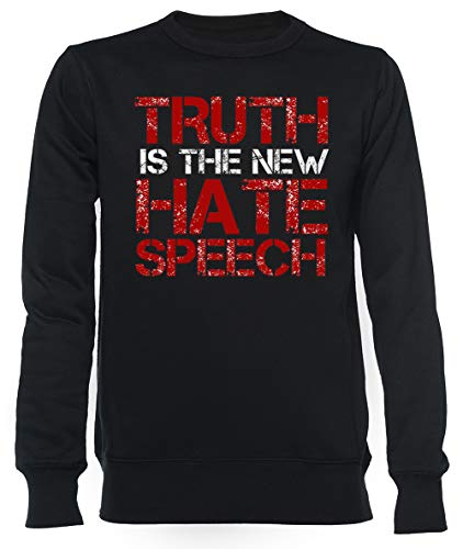 Truth Free Speech Political Offensive Liberty Freedom Unisex Mannen Dames Trui Zwart Unisex Men's Women's Jumper Black