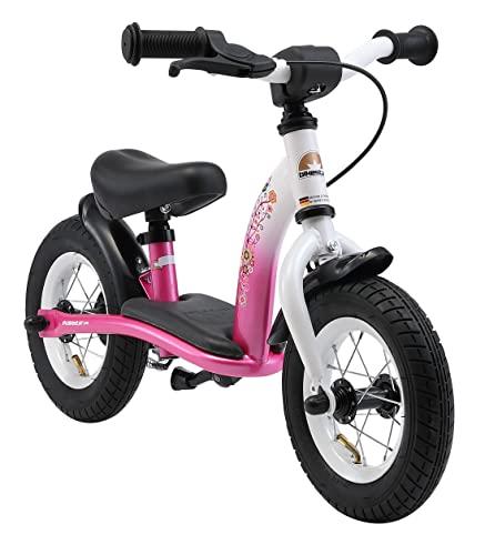 BIKESTAR® Premium Sicherheits-Kinderlaufrad für kleine Abenteurer ab 2 Jahren ★ 10er Classic Edition ★ Flamingo Pink & Diamant Weiß